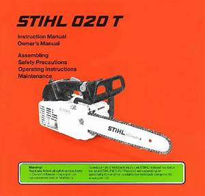Stihl 020t Chainsaw Owners Manual
