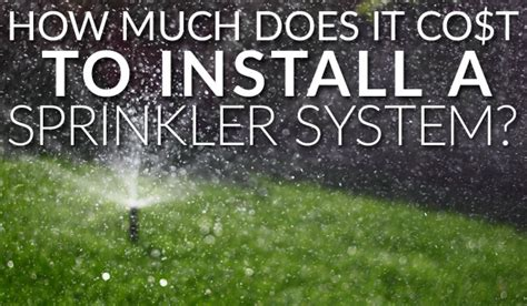 how much does it cost to install a sprinkler system az