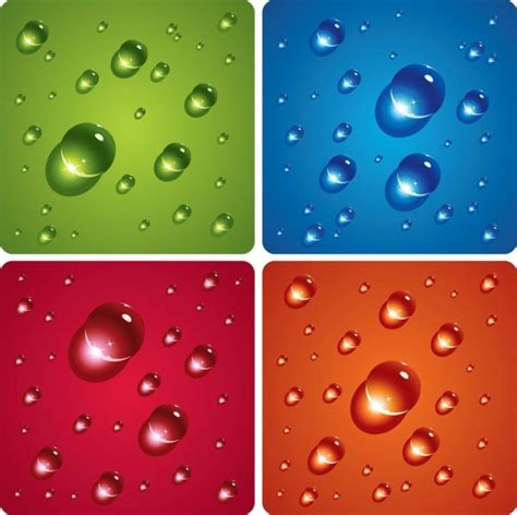 drops water droplets theme  vector