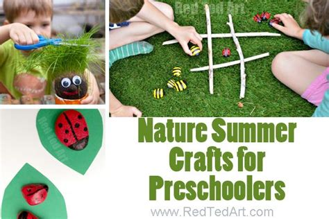 summer crafts for preschoolers ted s 860 | Summer Nature Crafts 600x400