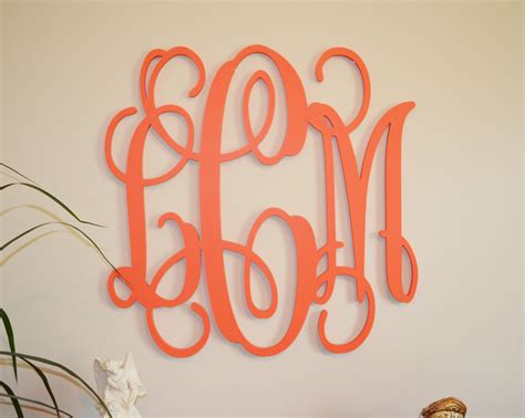 Fetco Home Decor Monogram Wall by 24 Painted Wood Monogram Initials Wall Decor Hanging