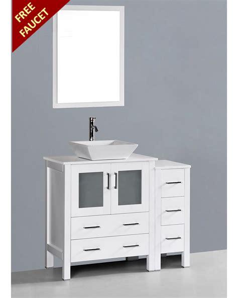 square vessel sink vanity white 42in square vessel sink single vanity by bosconi