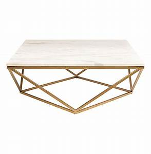 rosalie hollywood regency gold steel white marble coffee table With gold and white marble coffee table