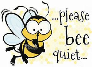 Bee Quiet Stock Vector Art & More Images of Bee - iStock  Quiet