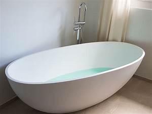 Freistehende badewanne piemont aus mineralguss wei matt for Freistehende badewanne mineralguss