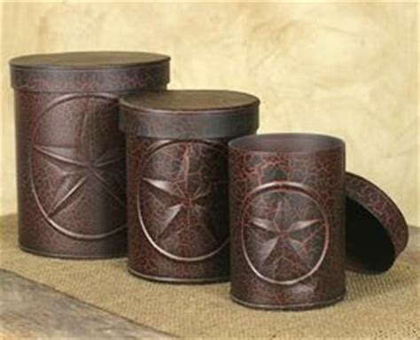 Western Kitchen Canisters by Crackle Black And Western Canisters Set Of 3