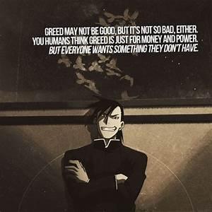 Greed Fullmetal... Fma Death Quotes