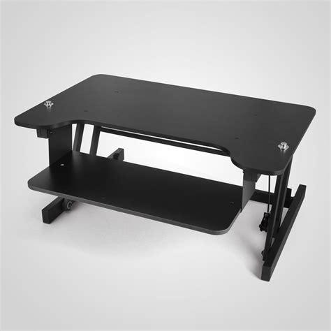 height adjustable standing desk riser xl adjustable height sit stand standing computer desk