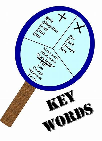 Word Problems Words Addition Subtraction Problem Key