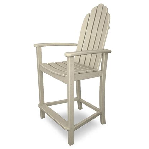 polywood add201 classic adirondack outdoor counter chair