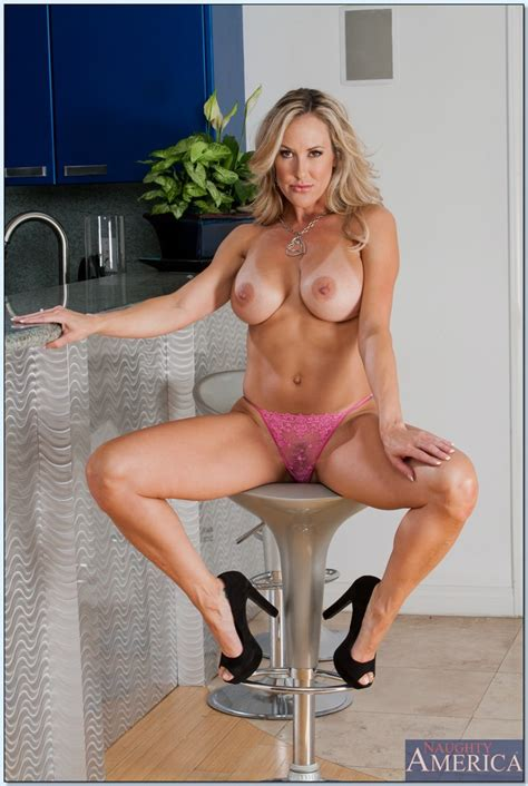 busty milf brandi love takes off her jeans and panties to
