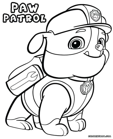 chase paw patrol coloring page printable  printable