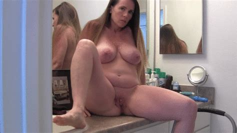 Pregnant Milf Bathroom Counter Masturbation Nikkinevada