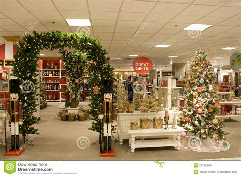 christmas gifts  department store stock photo image