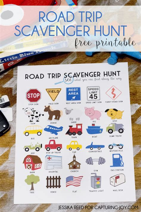 Road Trip Scavenger Hunt Free Printable  Capturing Joy