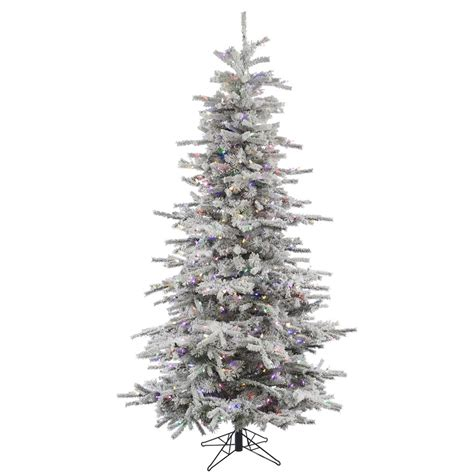 8 ft flocked slim christmas tree best tree deals for 2018 xpressionportal