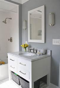 Gray & white bathroom | For the Home | Pinterest