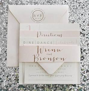 square bronson wedding invitation suite with belly band With order of wedding invitation suite