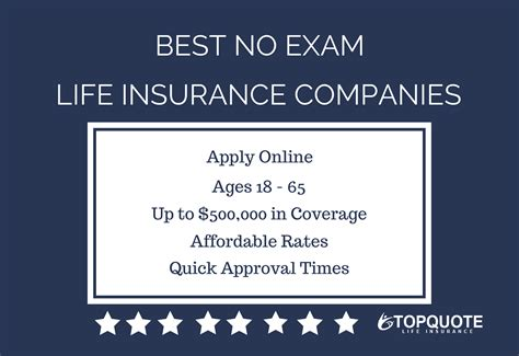 list   instant approval  exam life insurance