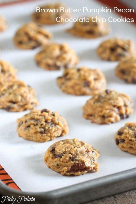 brown butter pumpkin pecan chocolate chip cookies foods