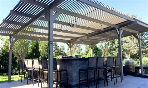 outdoor patio shutters louvered pergola covers shade and
