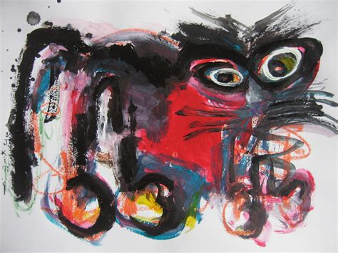 Abstract Black Cat Painting by Cat Painting Abstract And Black Cat Painting Original