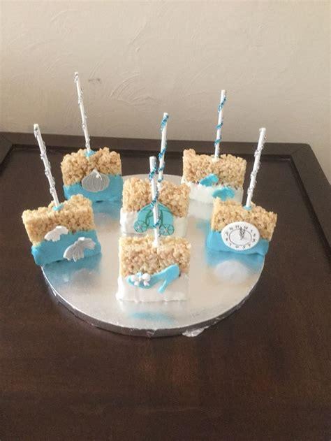 cinderella rice krispy treats cinderella cake pops