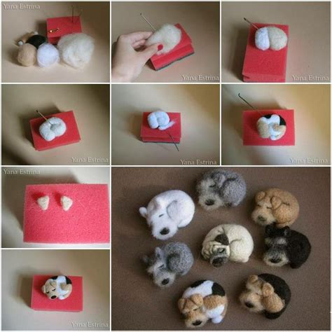 How To Make Cute Little Wool Dog Step By Step Diy Tutorial