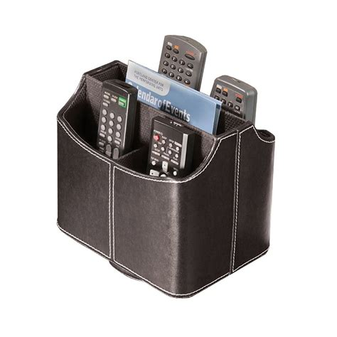 remote holder for spinning media storage faux leather remote