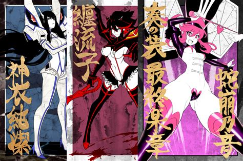 kill la kill ryuko and satsuki kill la kill poster set eu03 store powered by