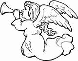 Angel Trumpet Coloring Supercoloring sketch template