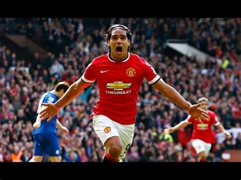 Radamel Falcao First Goal For Manchester United vs Everton ...