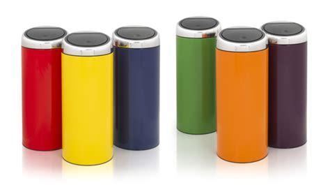 poubelle cuisine design poubelle brabantia touch bin 30 l poubelle de cuisine