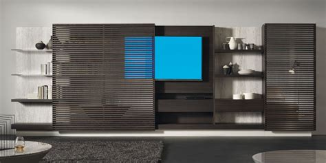 hide your television when not in use by building this tv lift 21 floating media center designs for clutter free living room