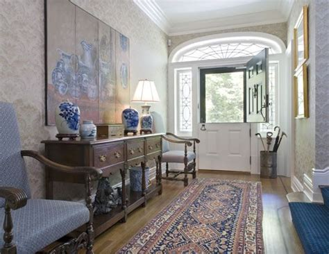 colonial home interiors door original to house hallway table chairs and
