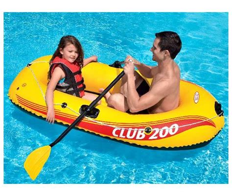 Inflatable Pool Boat With Oars by Intex Club 200 Inflatable Raft Boat With Oars Air Pump