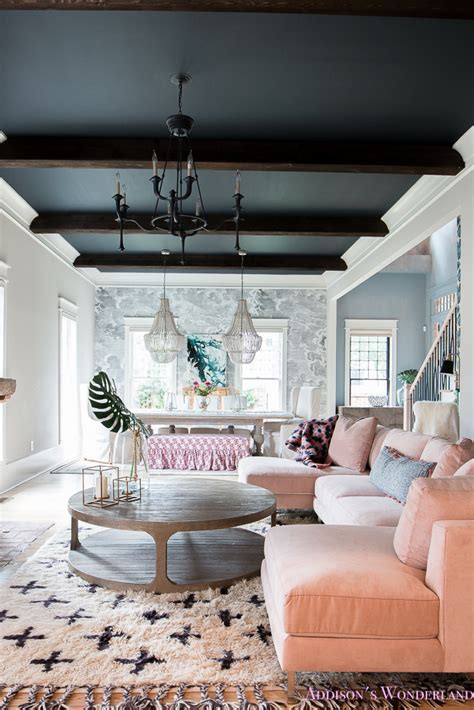 colorful fresh vintage living dining rooms