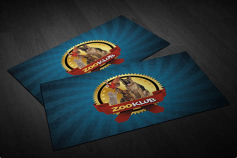 12+ Zoo Business Card Templates Free Psd, Word Designs