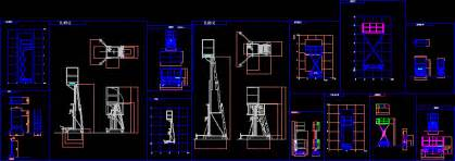 movable scaffolds dwg block  autocad designs cad