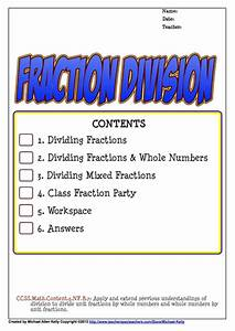 Divide Fractions By Fractions