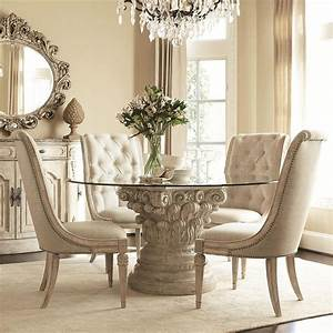 Luxury Dining Room Set Dining Room With Round Gold Table