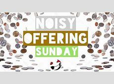 Noisy Offering Sunday at Peace Lutheran Church, Oshkosh