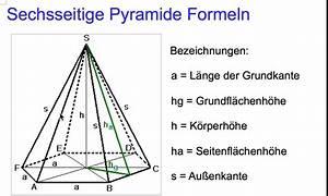 Pyramidenstumpf Volumen Berechnen : sechsseitige pyramide formeln youtube ~ Themetempest.com Abrechnung