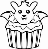 Coloring Cupcake Pages Kitty Hello Drawing Halloween Simple Muffin Printable Muffins Cupcakes Bat Getcolorings Sheets Getdrawings Cool Clipartmag Colorings sketch template