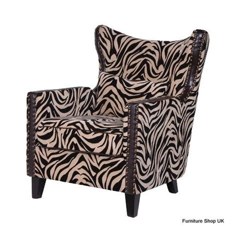 coach house zebra print wing chair for the home