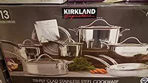 amazoncom kirkland signature stainless steel triply clad