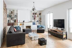 Sejour Style Industriel : un duplex dans le style industriel salle de s jour industriel salle de s jour paris ~ Teatrodelosmanantiales.com Idées de Décoration