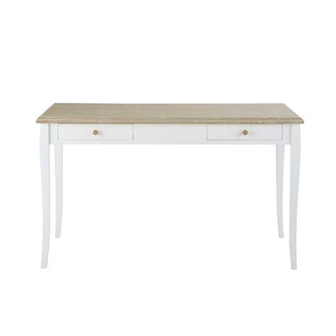 bureau romantique blanc bureau 2 tiroirs blanc angélique maisons du monde