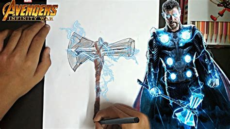 drawing thor 39 s new axe quot stormbeaker quot from avengers