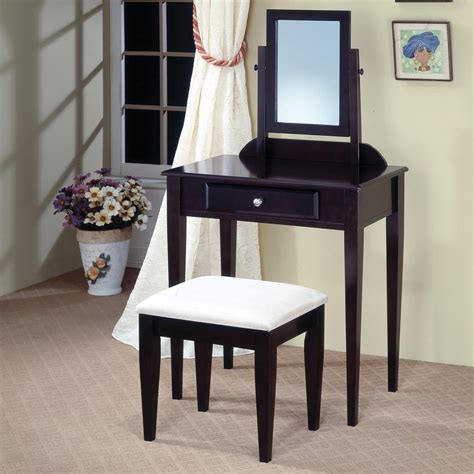 furniture vanity coaster furniture cappuccino makeup vanity at lowes